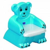 Детский горшок в виде синего медвежонка