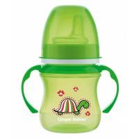Зелёный поильник с весёлой черепашкой для самых маленьких
