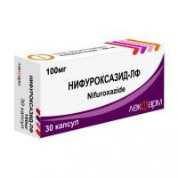 Нифуроксазид в сливово-белой коробке