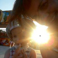 Снимок против солнца